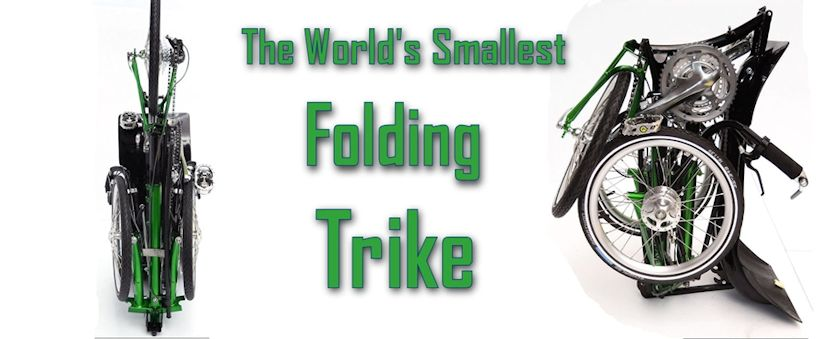 World Smallest folding trike