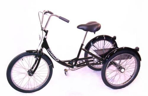 Husky T-124C Industrial Trike With Rear Platform