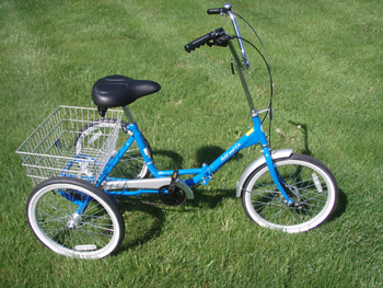 True Bicycle Fold And Go Trike Folding Tricycle