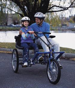 Worksman Team Dual Trike In Stock Worksman, Team Dual Trike, Side by Side, two person, adult tricycle