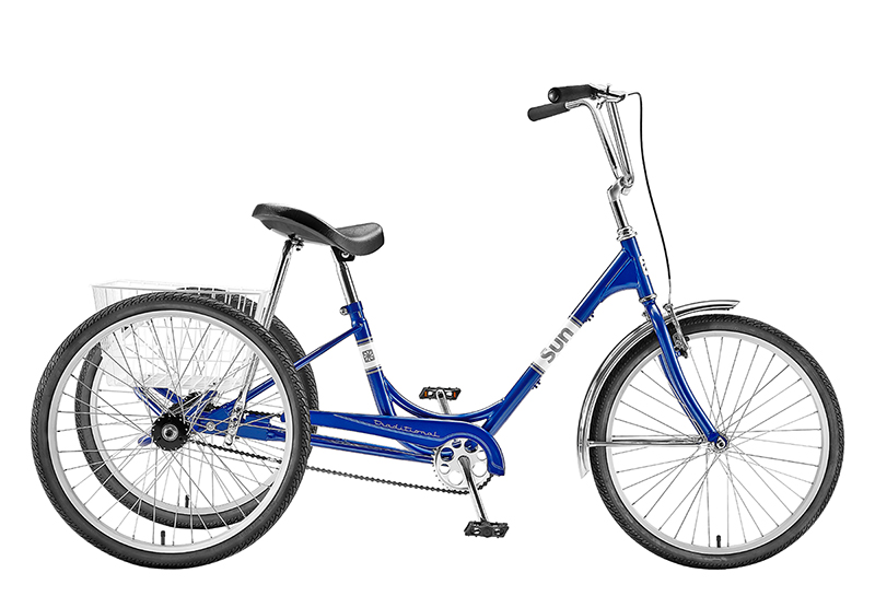 Adult Tricycle 1-Speed 3 Wheel 24/'/' White Trike 24inch W// Lock  Bicycle PRO