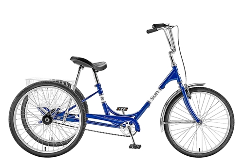 SUN BICYCLES Traditional 24 Recreational Adult Trike | Tricycle