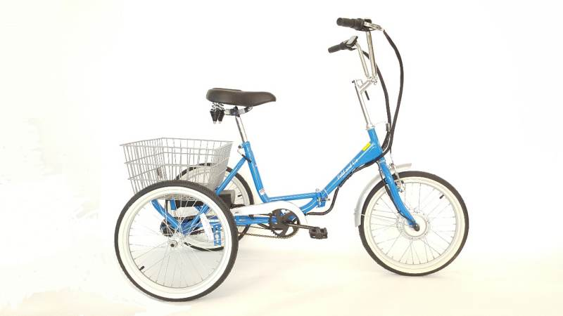 True Bicycles Fold and Go Deluxe Electric Folding trike
