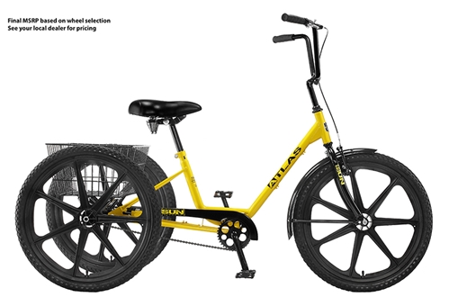 SUN BICYCLES Atlas Deluxe Industrial Tricycle