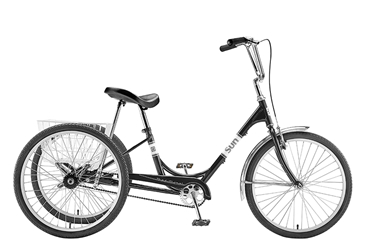 "Sun Traditional Trike 24"" Black"