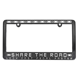 SHARE THE ROAD License Plate Frame